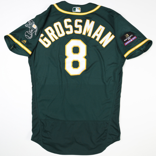 Photo of 2019 Japan Opening Day Series - Game Used Jersey - Robbie Grossman, Oakland Athletics at Nippon Ham Fighters -3/17/2019