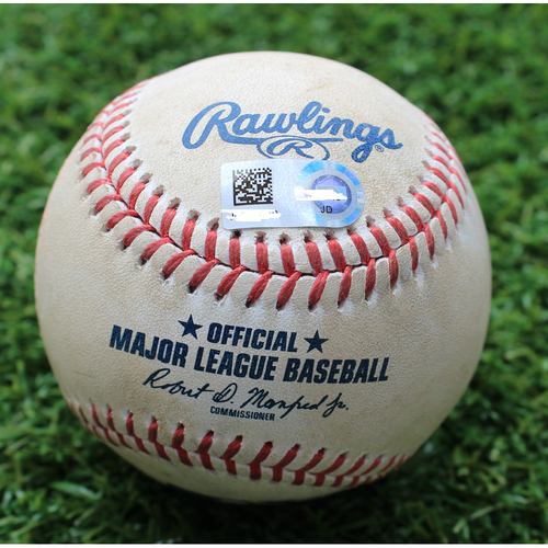 Photo of Game-Used Baseball: Matt Harvey Pitched 740th Career Strikeout (LAA @ KC - 4/28/19)