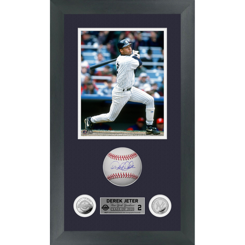 Photo of Derek Jeter Autographed Class of 2020 Baseball Shadow Box Frame