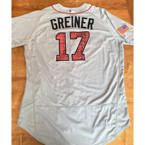 Photo of Grayson Greiner Stars and Stripes Detroit Tigers #17 Jersey (NOT MLB AUTHENTICATED)