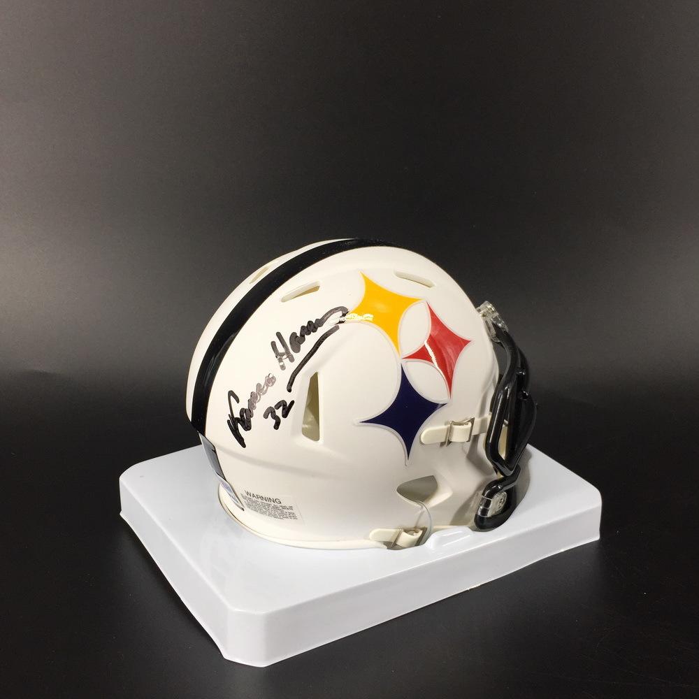 HOF - Steelers Franco Harris Signed Amp Alt Mini Helmet