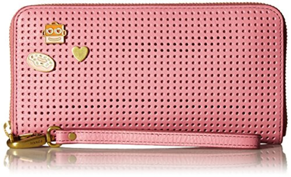 Photo of Fossil Emma Rfid Large Zip Clutch Wild Rose
