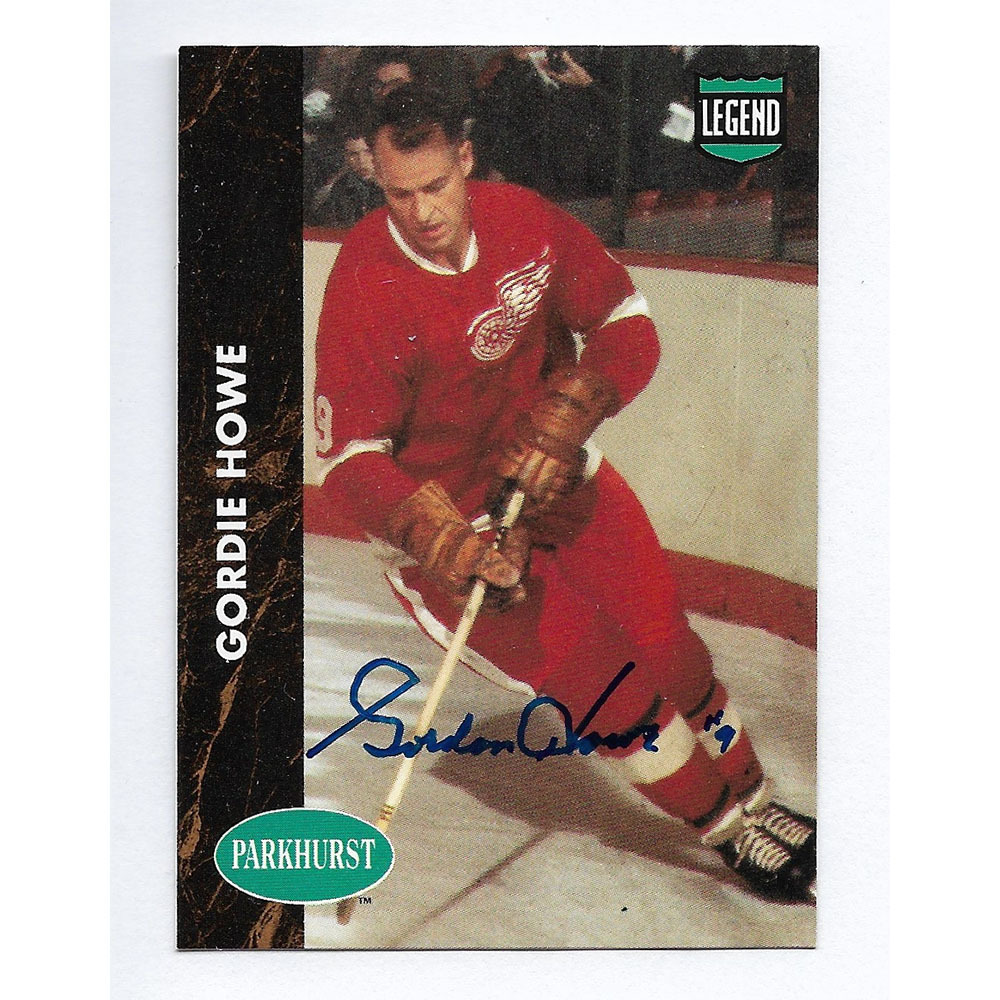 Gordie Howe Autographed 1991 Parkhurst Hockey Card