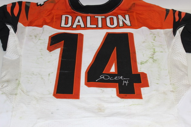 dba4e90c NFL Auction | STS - BENGALS ANDY DALTON GAME WORN AND SIGNED BENGALS ...
