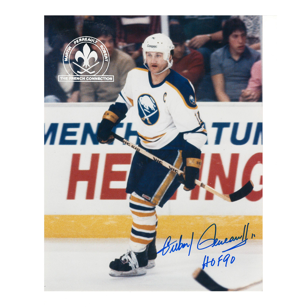GILBERT PERREAULT Signed Buffalo Sabres 8 X 10 Photo - 70069