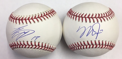 Mike Trout and Shohei Ohtani Autographed Baseballs - Package Deal
