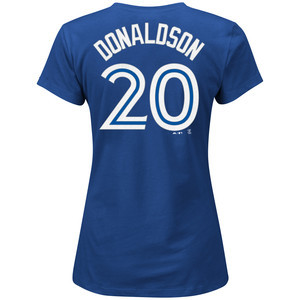 Toronto Blue Jays Women's Plus Size Josh Donaldson T-Shirt by Majestic