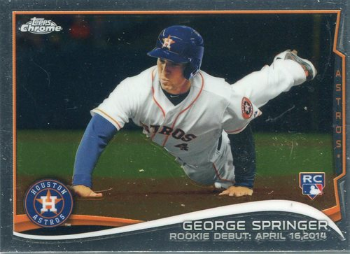 Photo of 2014 Topps Chrome Update #MB15 George Springer Rookie Card