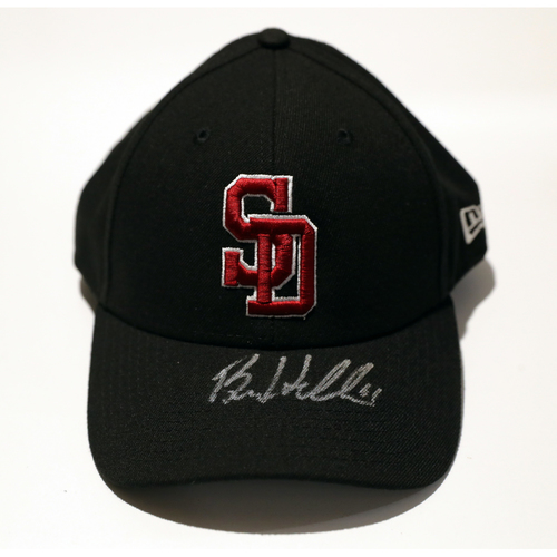 Photo of Ben Heller Autographed, Game-Used Stoneman Douglas Eagles Cap