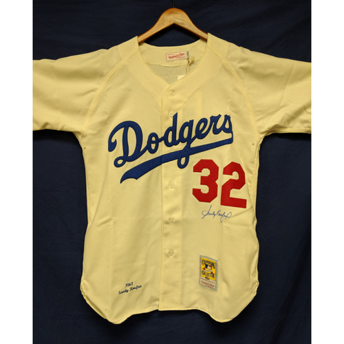 Photo of Kershaw's Challenge: Sandy Koufax Autographed Jersey - Not MLB Authenticated