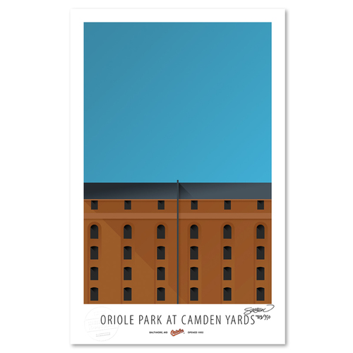 Photo of Camden Yards - Collector's Edition Minimalist Art Print by S. Preston #119/350  - Baltimore Orioles