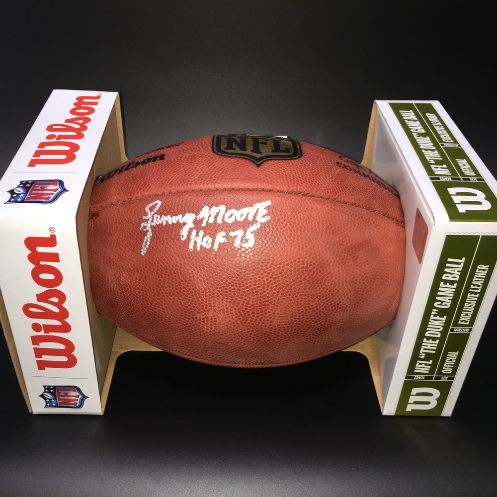 size 40 32c58 50739 NFL Auction   HOF - Colts Lenny Moore Signed Authentic Football