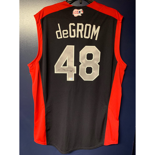 Photo of Jacob deGrom 2019 Major League Baseball Workout Day Autographed Jersey