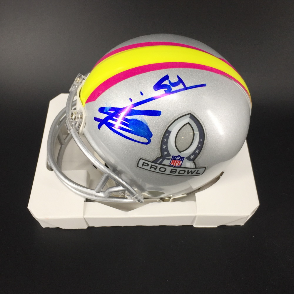NFL - Browns Olivier Vernon Signed 2019 Pro Bowl Mini Helmet W/ Slight Smudge on Signature