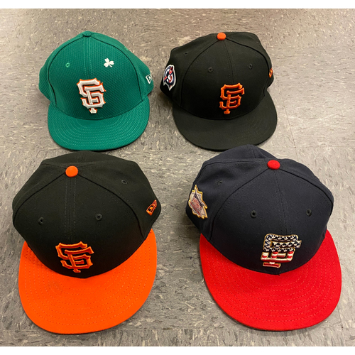 Photo of 2019 Holiday Sale - 2019 Game Used Cap Set - Size 7 1/4
