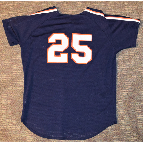 Photo of Detroit Tigers #25 Blue Batting Practice Jersey (NOT MLB AUTHENTICATED)