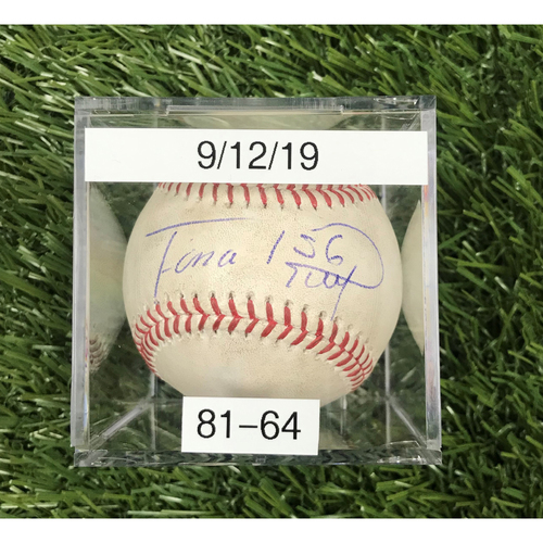 Win #81: 9/12/2019 Game-Used Baseball - Autographed by Fernando Rodney