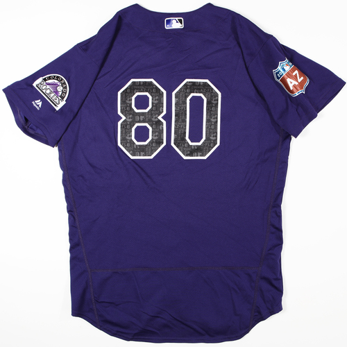 Photo of 2016 Spring Training - Spring Training Game Used Jersey - Mike Tauchman (Rockies)- Size- 46