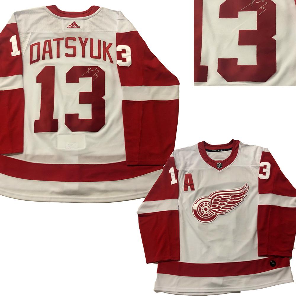PAVEL DATSYUK Signed Detroit Red Wings White Adidas Jersey