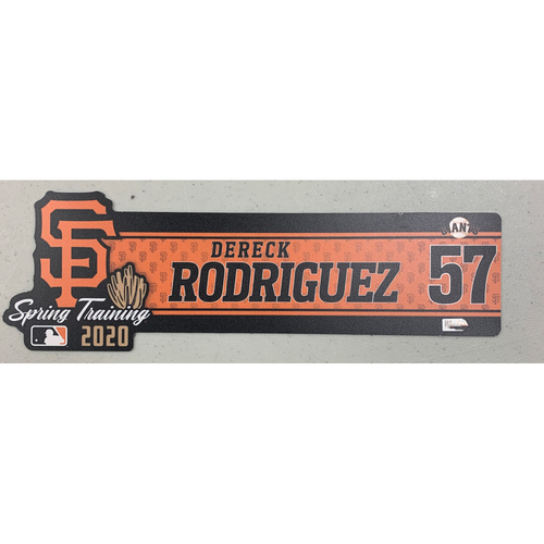 Photo of 2020 Spring Training Locker Tag - #57 Dereck Rodriguez