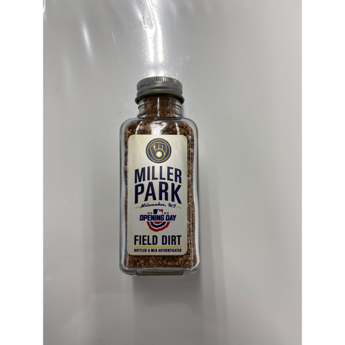 Photo of 2020 Opening Day Game-Used Dirt Jar - Miller Park