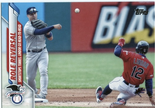 Photo of 2020 Topps #696 Role Reversal/Gleyber Torres/Francisco Lindor