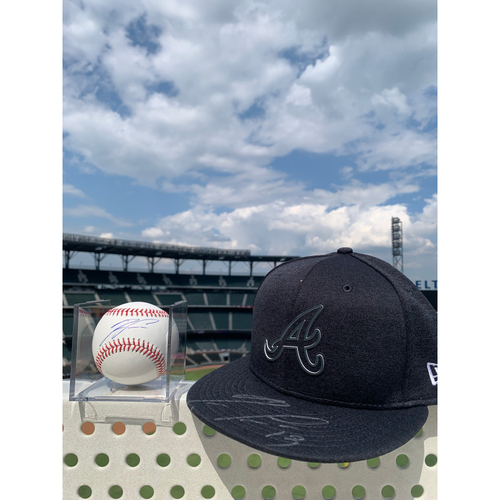 Photo of Ronald Acuna Jr. MLB Authenticated Autographed 2019 Players Weekend Style Hat and Baseball, Combo