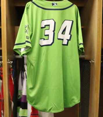 Stockton Ports Luis Carrasco Asparagus jersey, #34, Size 48