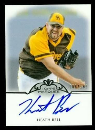 Photo of 2011 Topps Marquee Monumental Markings Autographs #HB Heath Bell/190