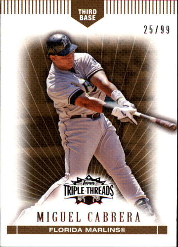 Photo of 2007 Topps Triple Threads Gold #74 Miguel Cabrera