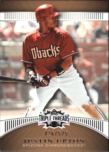 Photo of 2010 Topps Triple Threads Sepia #44 Justin Upton