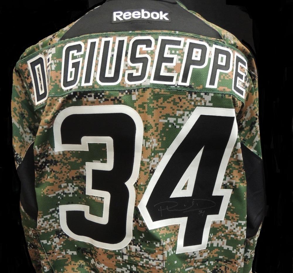 Carolina Hurricanes Phil Di Giuseppe #34 Military Appreciation Jersey