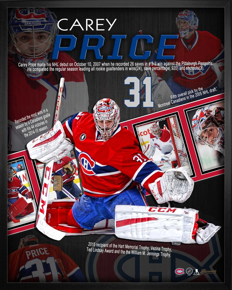 Carey Price - 16x20 Career Collage Canadiens
