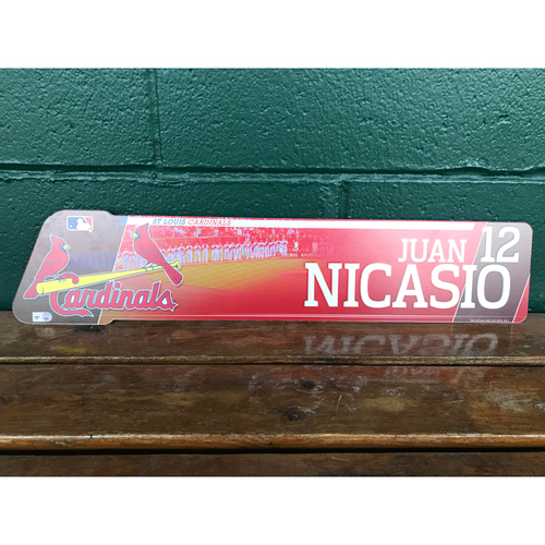 Photo of Cardinals Authentics: Juan Nicasio Game-Used Locker Name Plate