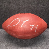 CARDINALS - D.J. HUMPHRIES SIGNED AUTHENTIC FOOTBALL W/ CARDINALS TEAM STAMP