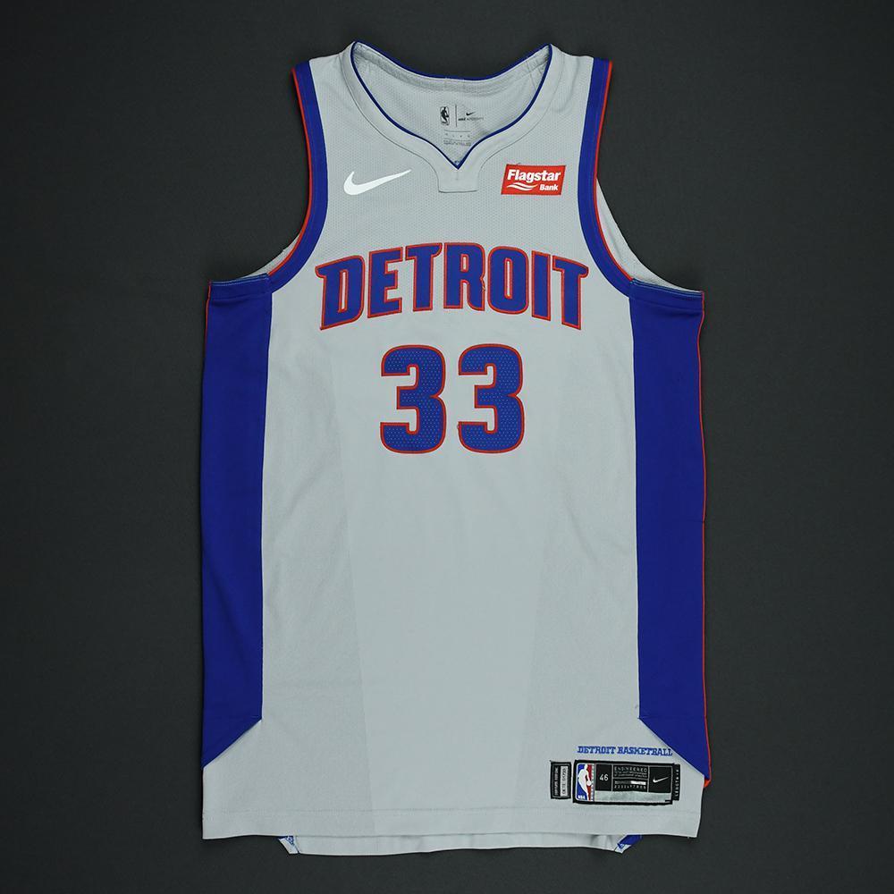 James Ennis III - Detroit Pistons - Statement Game-Worn Jersey  - 2017-18 Season - Dressed, Did Not Play