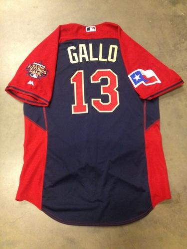 2014 MLB Futures Game: MVP Joey Gallo Game-Used BP Jersey HZ 567067