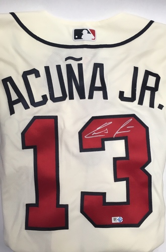 Photo of Ronald Acuna Jr. Autographed Braves Authentic Jersey