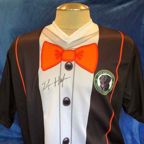 Photo of UMPS CARE AUCTION: 2015 Ryan Hafner Signed Greensboro Grasshopper Specialty Jersey, Size 50
