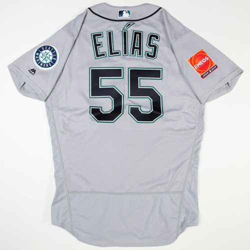 Photo of 2019 Japan Opening Day Series - Game Used Jersey - Roenis Elias, Seattle Mariners at Oakland Athletics -3/18/2019 , 3/20/2019