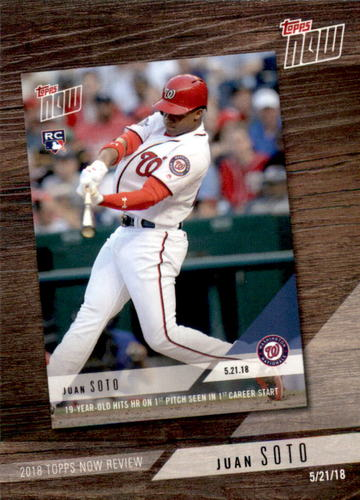 Photo of 2019 Topps '18 Topps Now Review #TN5 Juan Soto