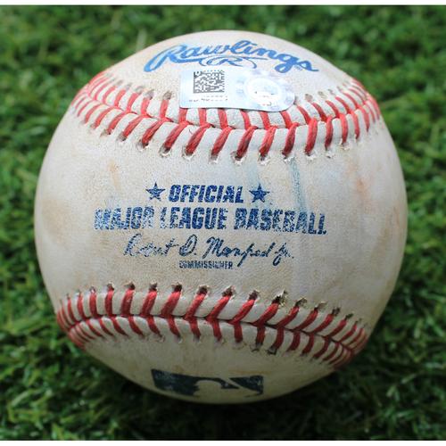 Photo of Game-Used Baseball: Charlie Tilson 6th Career Double and 23rd Career RBI (CWS @ KC - 6/9/19)