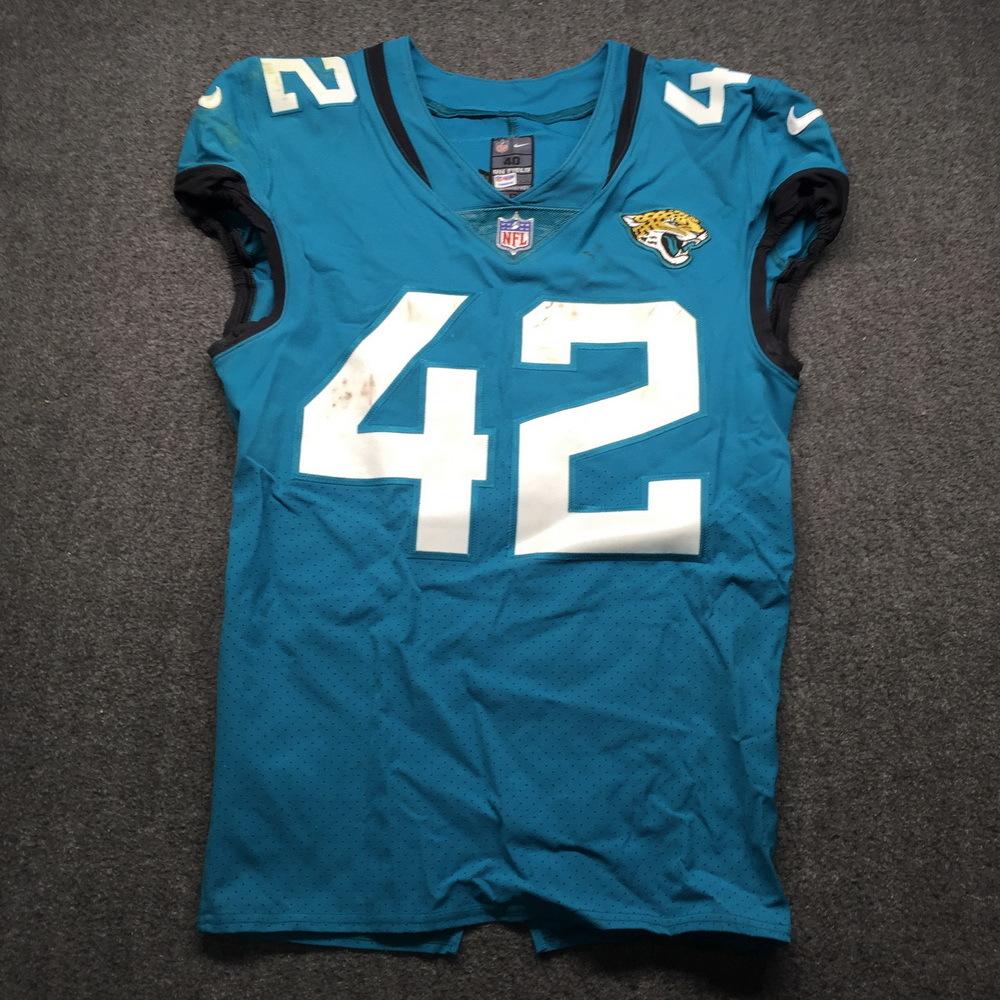 NFL Auction   Jaguars - Barry Church 2018 Game Used Jersey Size 40