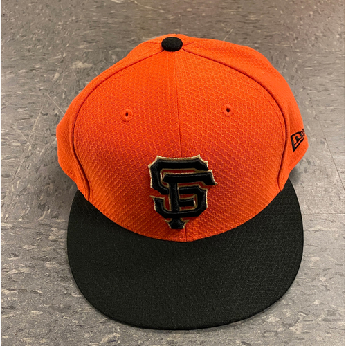 Photo of 2019 Holiday Sale - 2019 Team Issued Orange Batting Practice Cap - #40 Madison Bumgarner - Size 7 1/2