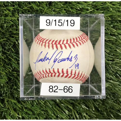 Win #82: 9/15/2019 Game-Used Baseball - Autographed by Anibal Sanchez