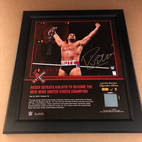 Photo of Rusev SIGNED Extreme Rules 2016 Frame