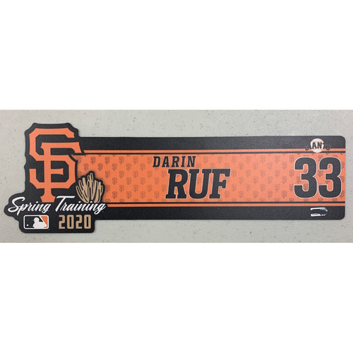 Photo of 2020 Spring Training Locker Tag - #33 Darin Ruf