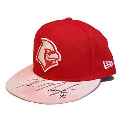 Photo of John Nogowski Autographed Game-Worn Memphis Redbirds 2019 Mother's Day Hat