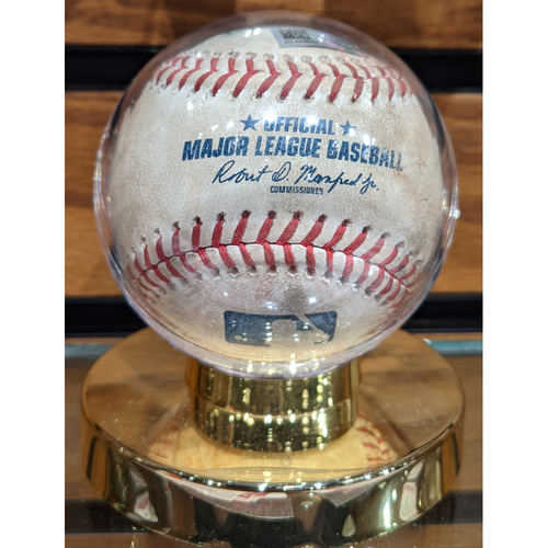 Photo of Red Sox vs. Yankees April 12, 2018 Game Used Baseball