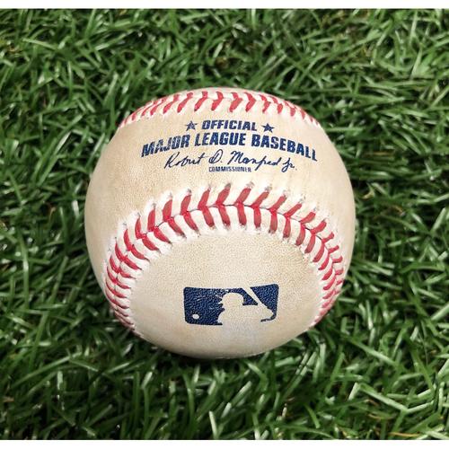 Photo of Game Used Baseball: Jackie Bradley Jr. foul ball off John Curtiss - September 10, 2020 v BOS